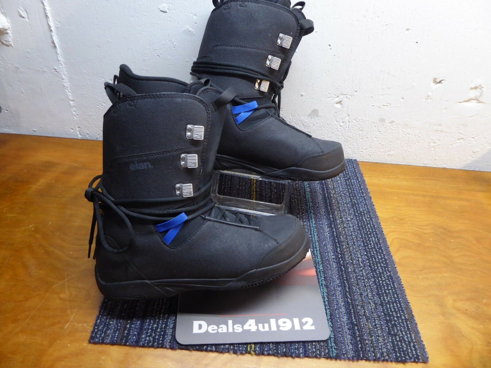 Elan Men's 12 Rental Snowboard  Boots Pull up Lace System Excellent Pre Owned  presenting all the latest high street fashion