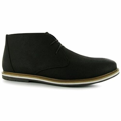 Lee Cooper PU Villa Junior Boots Shoes Lace Up Smart Hi Top Chelsea Ankle Style