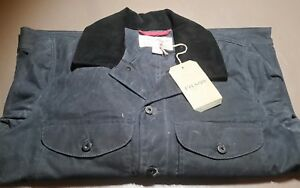 Filson-Journeyman-Seattle-Fit-Wax-Cotton-Jacket-blue-NWT-LG-Made-in-USA-176