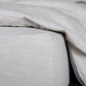 Washed-European-Flax-Linen-Blend-Fitted-Sheet-Soft-and-100-Natural-Fabric