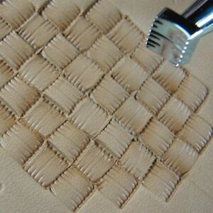Leather-Stamping-Tool-X506-Small-Square-Basket-Weave-Stamp