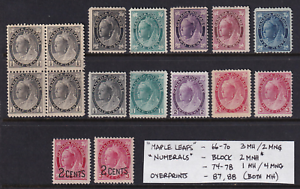 Canada 1897-1902 Unused QV Issues  Mostly MH  Very HICV  Nice!  See*