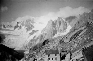 CHAMONIX-c-1960-Glacier-du-Geant-Refuge-Hte-Savoie-Negatif-9-x-6-ARA-143