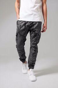 URBAN-Classics-Uomo-Camo-Cargo-Pant-Pantaloni-a-sigaretta-Jeans-Sweatpant-Chino-Jogging