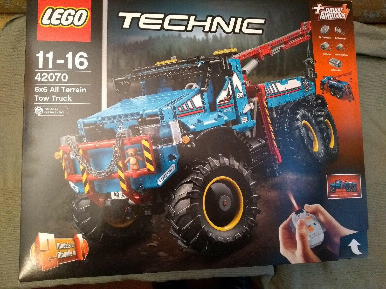 LEGO TECHNIC 6x6 TOUT TERRAIN dépanneuse 42070 & boîte vide & marron Chargeur