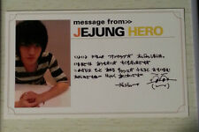 TVXQ DBSK Tohoshinki official Bigeast message card Jaejoong Jejung photocard