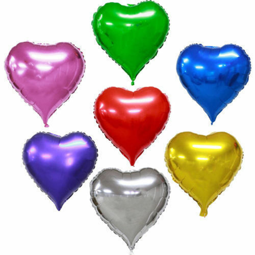 32/'/' Self Inflating Heart Shape Foil Helium Balloons Wedding Bday Party Ballons