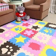 10Pcs Baby Kids Toddler Play Crawl Crawling Puzzle Mat Pad Rug Carpet Blanket