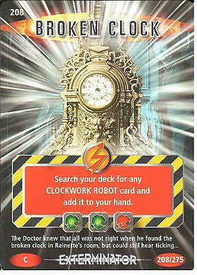 208 BROKEN CLOCK DR WHO BATTLES IN TIME NO