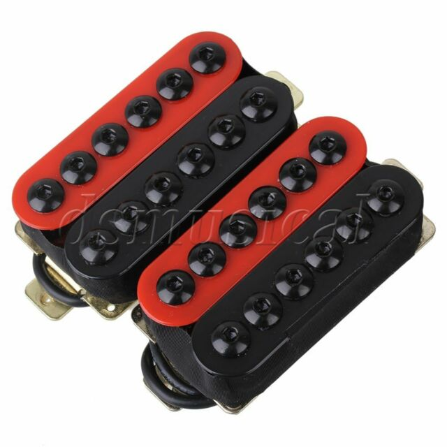 Yibuy One Pair Red Metal Pickups for Electric Guitar with Ceramic Magnets /&
