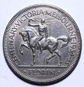 1934-35-Australia-1-One-Florin-George-V-Victoria-and-Melbourne-Lot-756