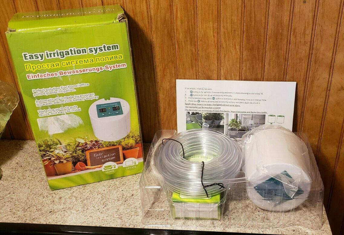 Easy Irrigation System Timer Automatic Watering System - New Open Box