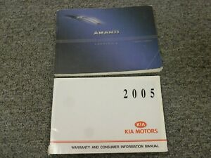 2006 Kia Amanti Sedan Owner Owner's Manual User Guide Set 3.5L V6