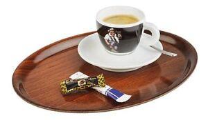 Audacieux Service Café Plateau Avec Holzdekor Stratifié Marron 38 X 27 Cm Gastlando-afficher Le Titre D'origine
