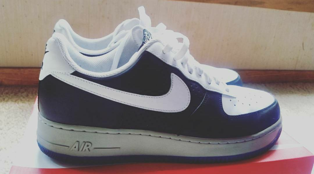 Men's Nike Air Force 1 White/Black/Grey/Blue Comfortable The most popular shoes for men and women