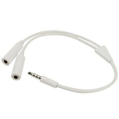 Kopfhörer Headphone Splitter 3,5 mm Audio Aux Smartphone handy Y-Adapter