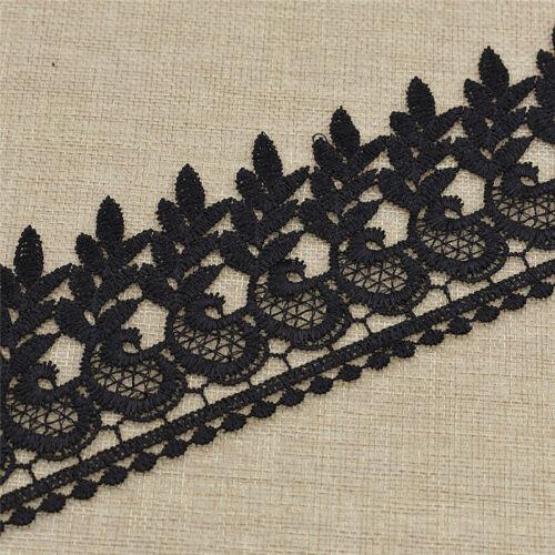 Spitzenborte Schwarz Stickerei DIY Randverzierung Kleid Unterwäsche Nähen Chic
