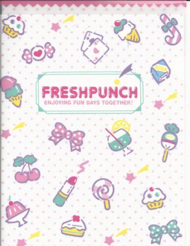 Sanrio Hello Kitty Fresh Punch Folder Portfolio Side Open Pink White Dots