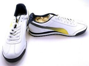 Details about Puma Shoes Roma Athletic WhiteYellow GradientBlack Sneakers Size 8