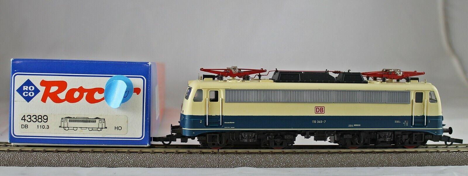 Roco 43389 elektrolokomotive br 110 de la DB de colección con embalaje original dc