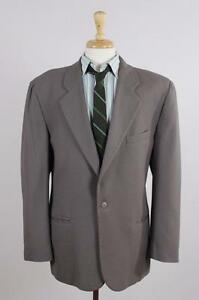 Umberto-Ginocchietti-50-40R-Tan-Wool-1B-Mens-Sport-Coat-Blazer-Suit-Jacket-0493