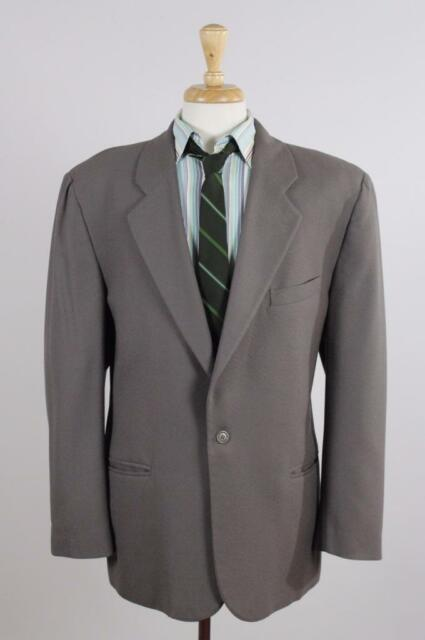 Umberto Ginocchietti 50/40R Tan Wool 1B Mens Sport Coat Blazer Suit Jacket 0493