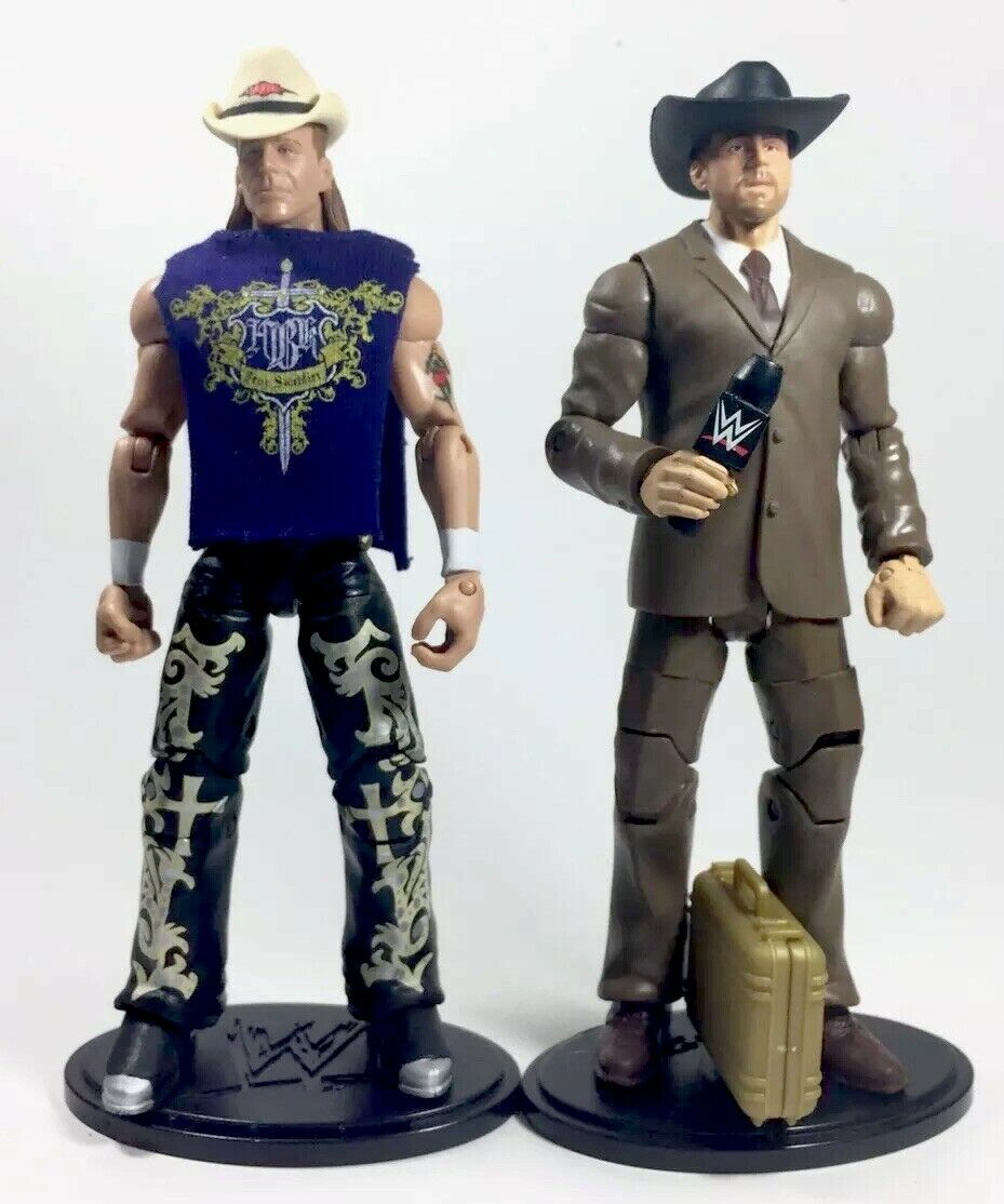WWE Elite Figure Baf Baf Baf Commissioner Shawn Micheals Series 3 And Elite Series 3 LOT 412422