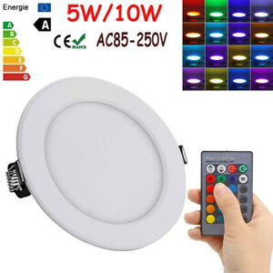 LED-Deckenleuchte-Panel-RGB-Wand-Lampe-Innen-Heim-Beleuchtung-W-Fernbedienung