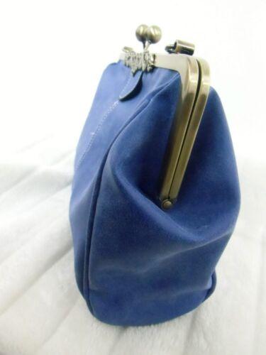 Pinup Nubuck Vintage Bleu Inspired Rétro Gris Sac Main Original À Simili nROqXx8qwt