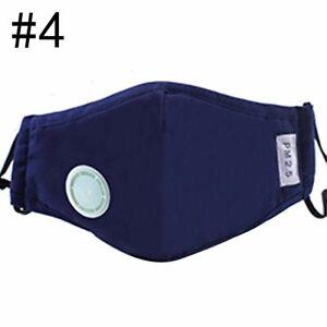 1PcsUnisex Cotton Breath Valve Mouth Mask Activated carbon filter respirator