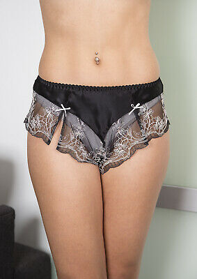 Sulis Silk Juliette pure silk lace French knickers made in Britain