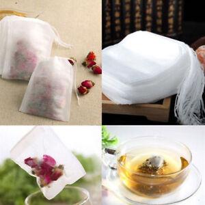 100X-Teebeutel-Befuellbar-Beutel-Gewuerze-Teetuete-Teefilter-Saeckchen-Leer-5-5-7cm