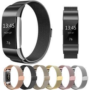 Milanais-boucle-metal-magnetique-maille-Bracelet-de-montre-pour-Fitbit-Charge-2