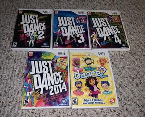 Just Dance 2 3 4 2014 Nickelodeon Nintendo Wii Lot Bundle