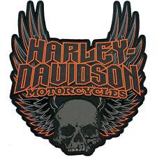 """Harley-Davidson Aufnäher/Emblem """"GOTHIC WINGS"""" Patch Skull  *EM108307* groß"""