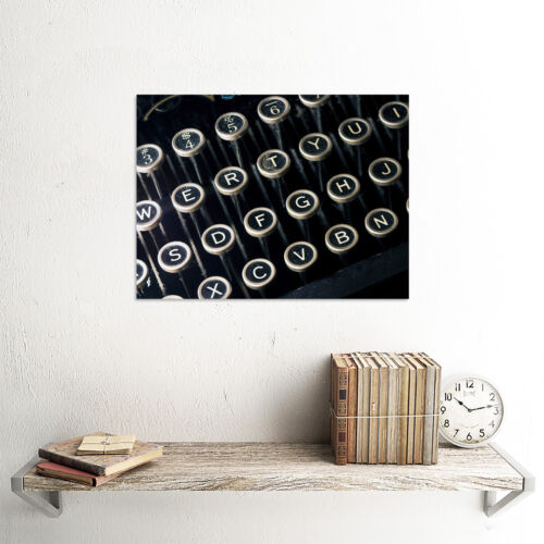 PHOTOGRAPH ANTIQUE RETRO STYLE KEYBOARD PICTURE ART PRINT POSTER MP5507B