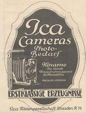 Y6182 ICA Cameras - Kinamo - Pubblicità d'epoca - 1925 Old advertising