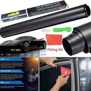 Pellicola Oscurante Per Vetri Auto Nero 50cm X 3m Con Kit