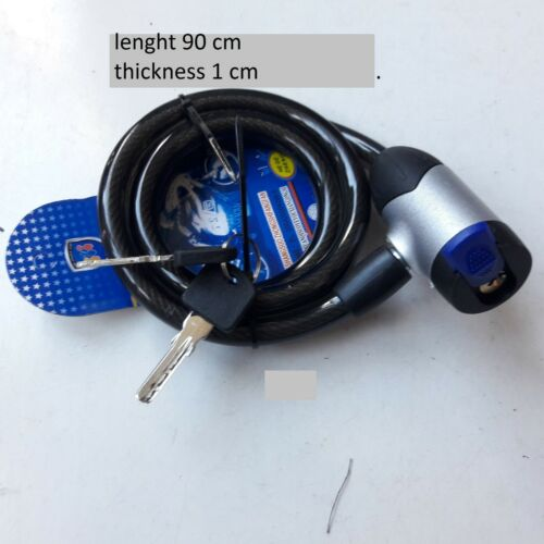 Bike Bicycle Heavy Duty Cycle Security Cable Chain Locking Mechanism Code Keys