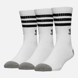 55bba1944 Adidas Originals Men s ROLLER CREW 3-Pack Socks White Black BH6423 c ...