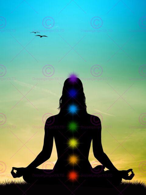 PAINTING BUDDHIST YOGA MEDITATION LOTUS ART PRINT POSTER MP5164A
