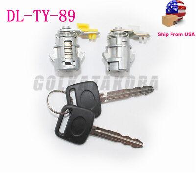 FIT 89-95 TOYOTA PICKUP 89-98 4RUNNER DL-TY-89 L/&R OEM NEW DOOR LOCK SET W// KEY