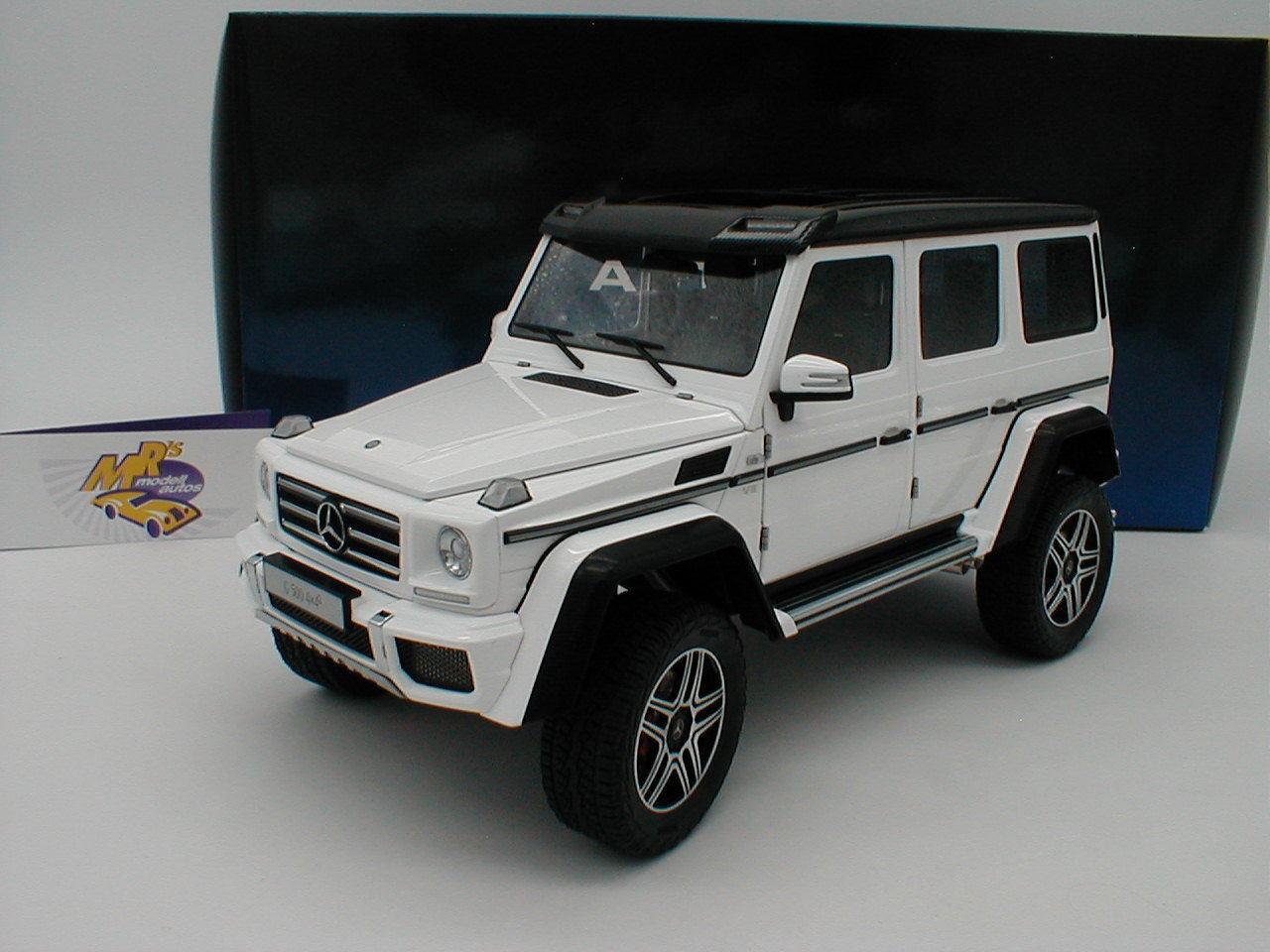 Autoart 76316-Mercedes-Benz g500 4x4² año de fabricación 2015  blancoo-brillante  1 18 nuevo