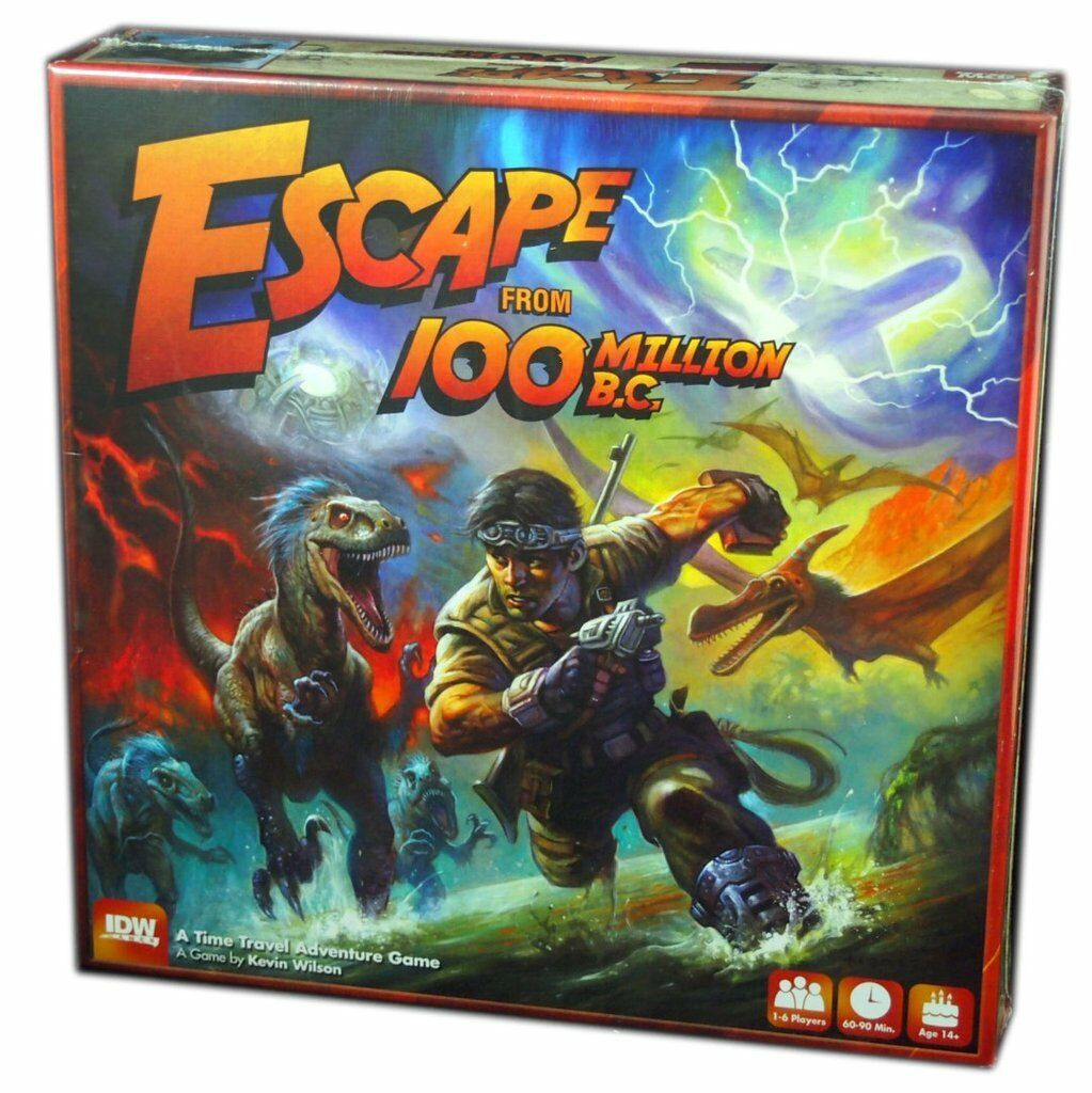 ESCAPE FROM 100 MILLION B.C. - Board Game (IDW Games)  NEW