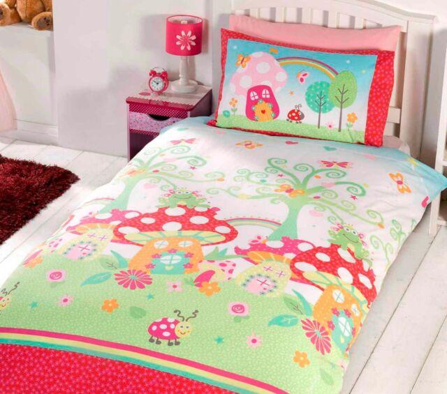 S Single Bedding Age 3 To 13 Duvet Cover Fun Bright Designs 135cm X 200cm Enchanted Garden For Online Ebay