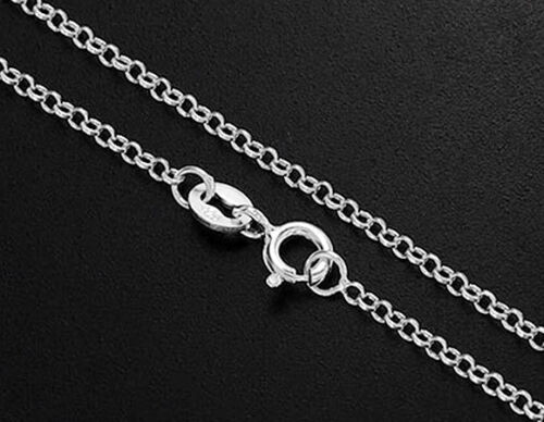 environ 45.72 cm Argent Sterling 925 Rolo Chaîne Collier 1.6 Mm 18 in