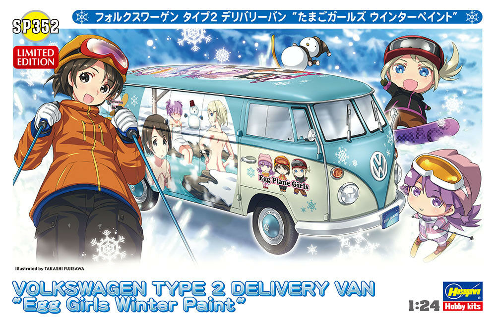 Hasegawa 1 24 Volkswagen TYPE 2 Delivery Van  Egg Girls Winter Paint  P352