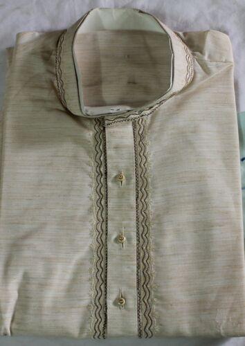 Khadi Men Kurta Pajama Traditional  Wedding Shirt Free Shawl Small