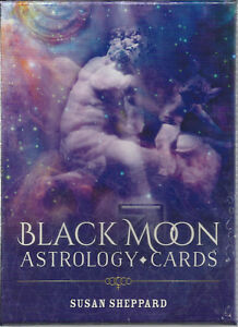 BLACK-MOON-ASTROLOGY-GUIDEBOOK-amp-52-CARDS-BY-SUSAN-SHEPPARD-NIB-SEALED