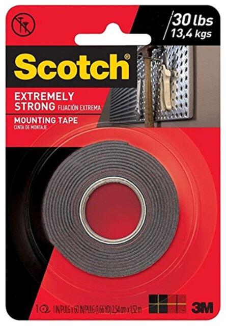 Scotch® Clear Mounting Tape 410P-CFT 1in x 60 in x 0.045 in Bonus 20/% More Tape